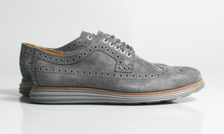 "Cole Haan LunarGrand Long Wingtip ""Grey Steade Suede"""
