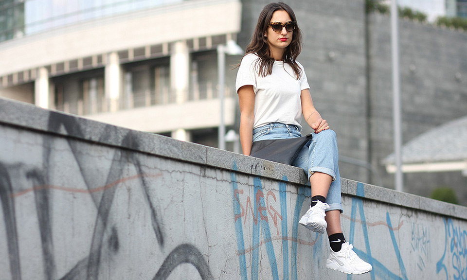 nike huarache with outfit