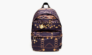 Versus Versace Gold Chain Print Safety Pin Backpack