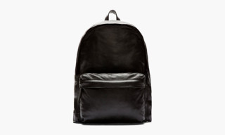 Ann Demeulemeester Black Leather Backpack
