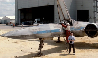 J.J. Abrams Unveils 'Star Wars Episode VII' X-Wing Starfighter