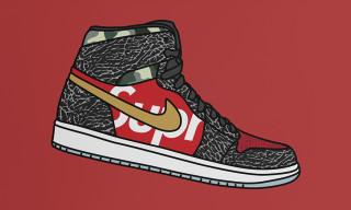 """Nike SB x Air Jordan 1 x Supreme """"What the Supreme"""" Concept by Kick Posters"""