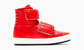 Pierre Hardy Velcroed High-Top Sneakers