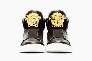 VERSACE Medusa High-Top Leather Sneakers l4SV4J91mv