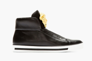 Versace Leather Medusa High-Top Sneakers