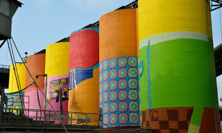 "Os Gêmeos Paint ""Giants"" on Vancouver's Concrete Industrial Silos"