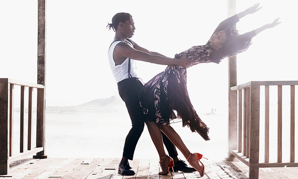 A$AP Rocky and Chanel Iman by Mikael Jansson for 'Vogue ...