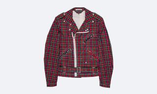 COMME des GARCONS HOMME PLUS Tartan Cotton Biker Jacket