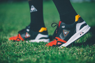 "964cf5dcc6c4 Highs and Lows x Le Coq Sportif R1000 ""Swans"" Pack"