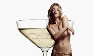 A Champagne Glass Has Been Designed Based on Kate Moss's Left Breast