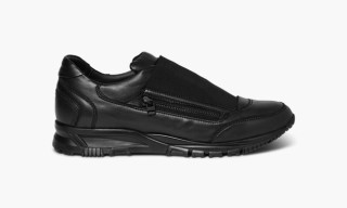 "Lanvin Smooth Drum-Dyed Lambskin Sneaker ""Black"""