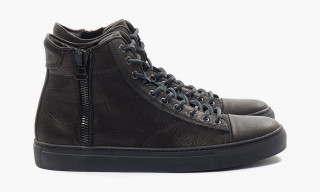 "wings+horns Leather Hi-Top ""Black"""