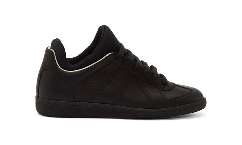 1741ddca3 durable service Maison Martin Margiela Black Leather Integrated Neoprene  Replica SneakersHighsnobiety
