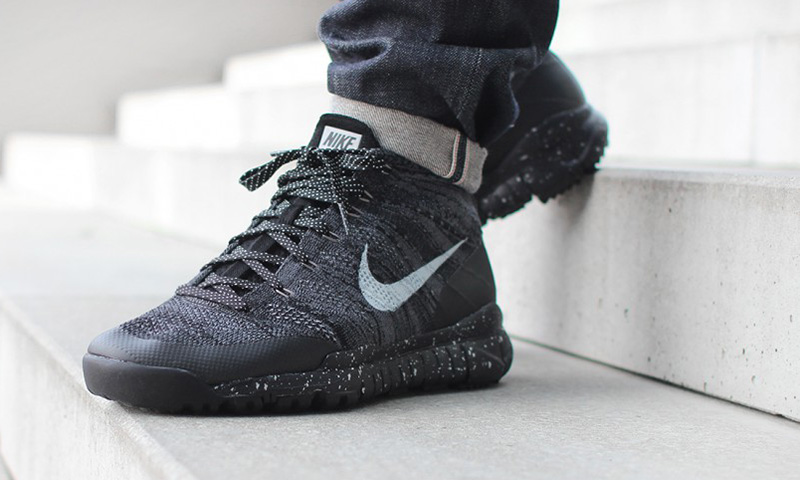 free shipping f0871 2b5fd nike flyknit trainer high top