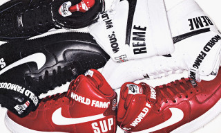 A First Look at the Supreme x Nike Air Force 1 Hi Pack
