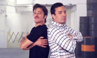 Watch Jimmy Fallon and Brad Pitt Converse through the Art of Breakdance