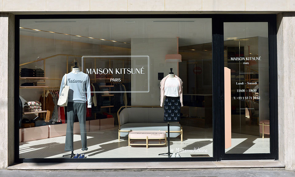 maison kitsun opens its second parisian boutique highsnobiety. Black Bedroom Furniture Sets. Home Design Ideas