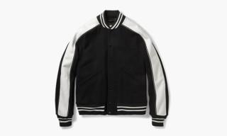 Sandro Felt-Paneled Woven Varsity Jacket