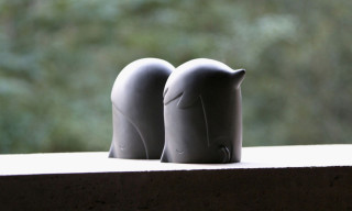 """U + I"" Black Porcelain Sculptures by Yoskay Yamamoto"