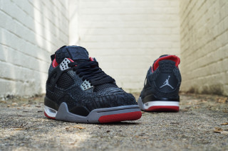 "Air Jordan IV ""Bred"" Black Sueded Python by JBF Customs"