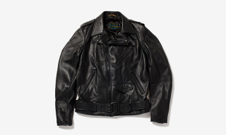 "fragment design x Schott NYC ""One Star"" Leather Biker Jacket"