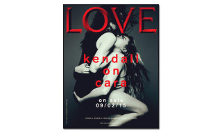 Kendall Jenner & Cara Delevingne Straddle Each Other on the Cover of 'Love' Magazine