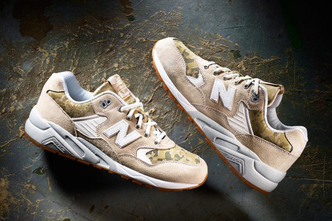 NEW Balance mrt580 CW WHITE Tan Camo Scarpe/sneaker