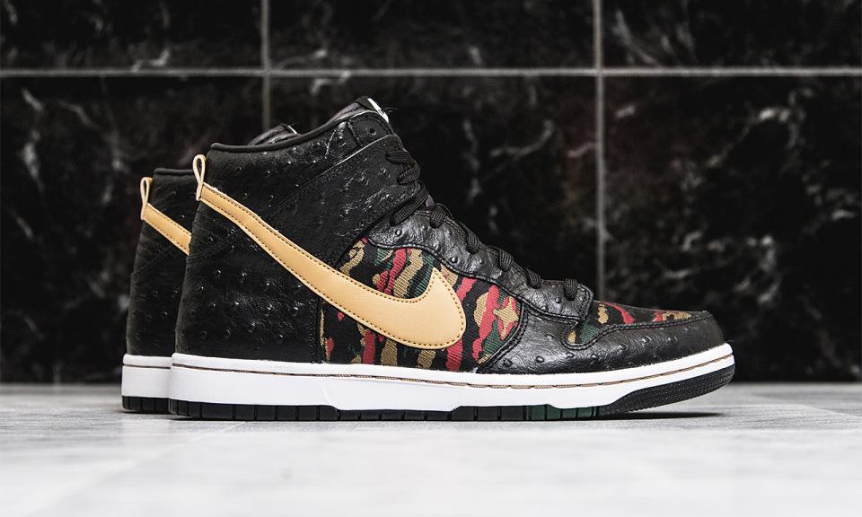 Nike Dunk High CMFT Premium Black Ostrich Highsnobiety best