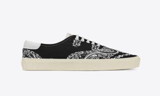 Saint Laurent Paisley Sneakers & Accessories
