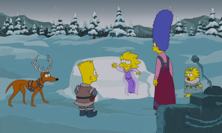 Watch The Simpsons Make Fun of 'Frozen' in Their Christmas Couch Gag