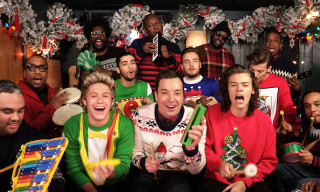 "Watch One Direction, The Roots & Jimmy Fallon Perform ""Santa Claus is Coming to Town"" Using Children's Instruments"