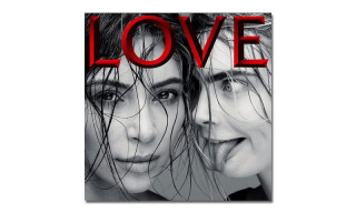Kim Kardashian and Cara Delevingne Cover 'LOVE' Magazine