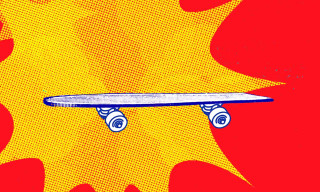 Abstract Illustrations Tell the History of Skateboarding