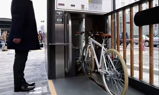Watch How Bikes are Stored Underground in Japan
