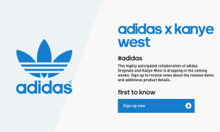 Sign Up for the Kanye West x adidas Originals Newsletter