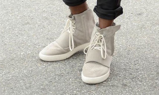 Kanye West Spotted in New adidas Yeezy 750 Boost