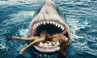 Rihanna Swims with Sharks in 'Harper's Bazaar' March 2015