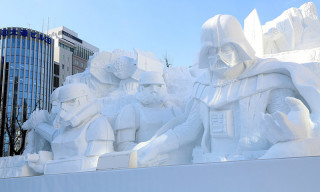 Japanese Army Troops Have Built a Giant 'Star Wars' Snow Sculpture