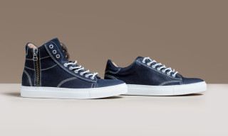 """wings + horns Spring 2015 Leather High-Top and Low-Top """"Night Blue"""""""