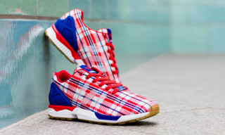 "CLOT x adidas Consortium ZX Flux ""Red, White, Blue"""