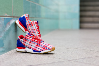 "innovative design 8f372 c05c6 CLOT x adidas Consortium ZX Flux ""Red, White, Blue"""