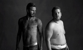 Watch David Beckham and James Corden Spoof Underwear Ads