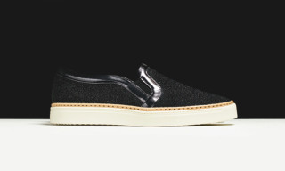 MCM Skid Leather Slip On Sneakers