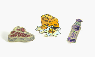 "Naturel x PINTRILL ""A T-Bone Steak, Cheese-Eggs, & Welch's Grape"" Pin Set"