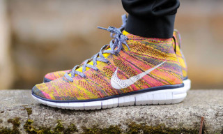 "Nike Free Flyknit Chukka ""Midnight Navy/White-True Yellow"""