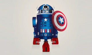 R2-D2 Illustrated as Famous Superheroes