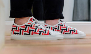 Thom Browne Woven Grosgrain Tennis Shoes