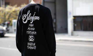 Street Style: Andrea Ursino in fragment design x Nike and Slam Jam x Stussy