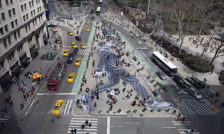 Watch a Time-Lapse of JR Creating a Large-Scale Pasting in Manhattan