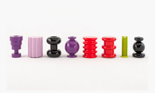 Kartell by Ettore Sottsass Vases, Stools and Lamp Collection